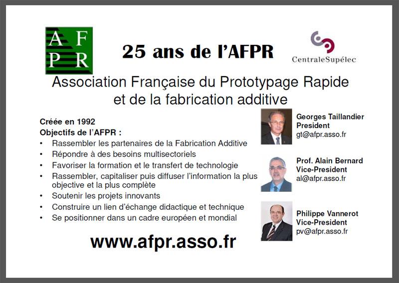 les 25 ans de l'AFPR